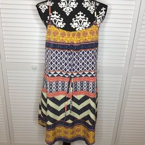 Sanctuary Chevron Mini Dress Large